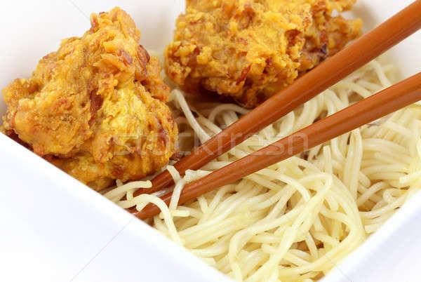 Foto stock: Lanches · tigela · café · da · manhã · chinês