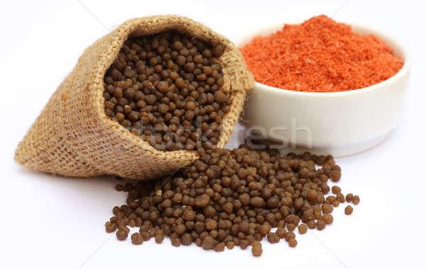 удобрение белый продовольствие оранжевый зеленый красный Сток-фото © bdspn
