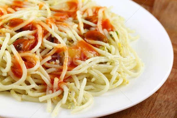 приготовленный пластина овощей жира Сток-фото © bdspn