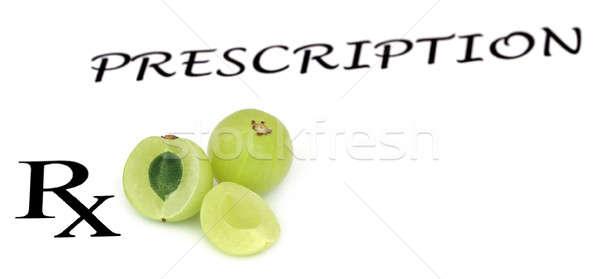 Frutas prescrição comida médico fruto Foto stock © bdspn