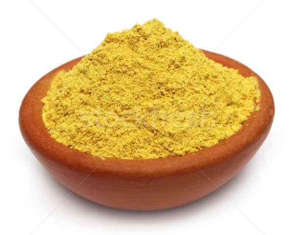 Ubtan powder on brown bowl  Stock photo © bdspn
