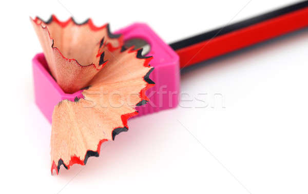 Wood pencil with sharpener Stock photo © bdspn