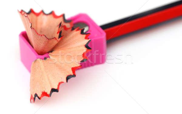 Drewna farbują temperówka biały czarny pojęcia Zdjęcia stock © bdspn