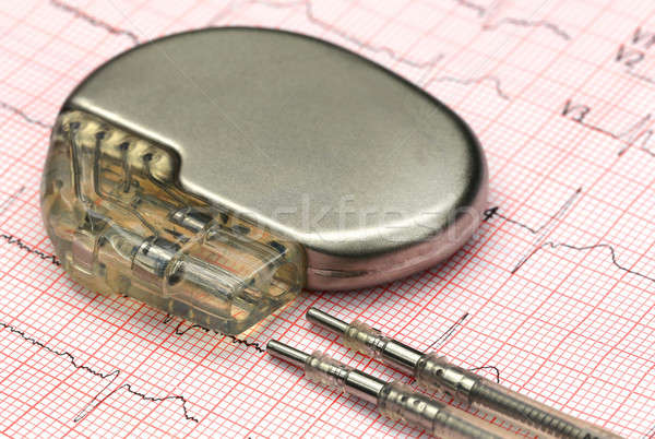 Electrocardiograph with pacemaker Stock photo © bdspn