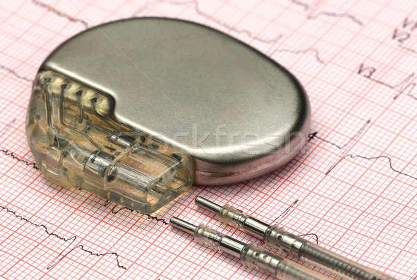 Szívritmusszabályzó közelkép adat ezüst egészségügy kudarc Stock fotó © bdspn