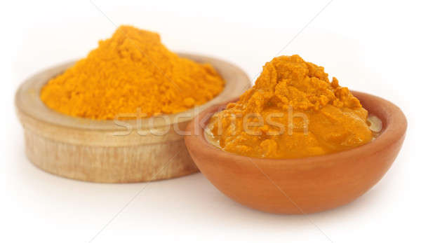 Ground and mashed turmeric Stock photo © bdspn