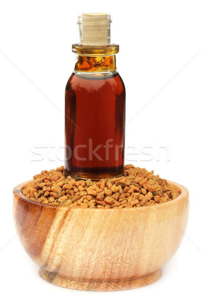 Fenugreek seeds with oil Stock photo © bdspn