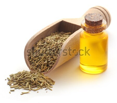 Stockfoto: Hennep · olie · fles · witte · natuur