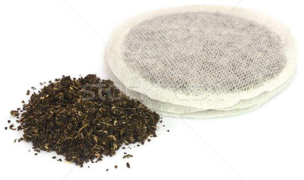 Green tea with teabag Stock photo © bdspn