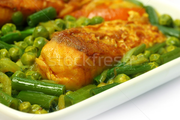 辛い 皿 魚 白 ボウル 食品 ストックフォト © bdspn
