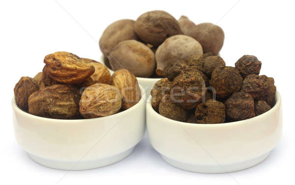 Triphala, a combination of ayurvedic fruits Stock photo © bdspn