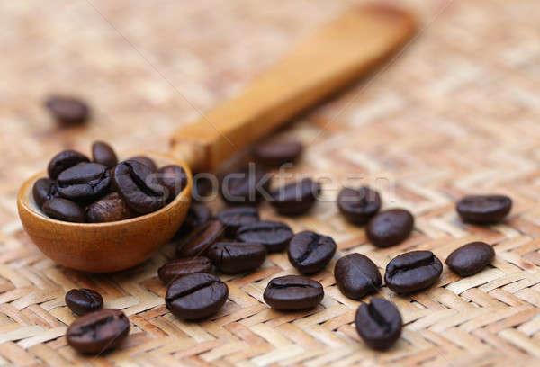 Koffiebonen koffieboon oppervlak koffie Stockfoto © bdspn