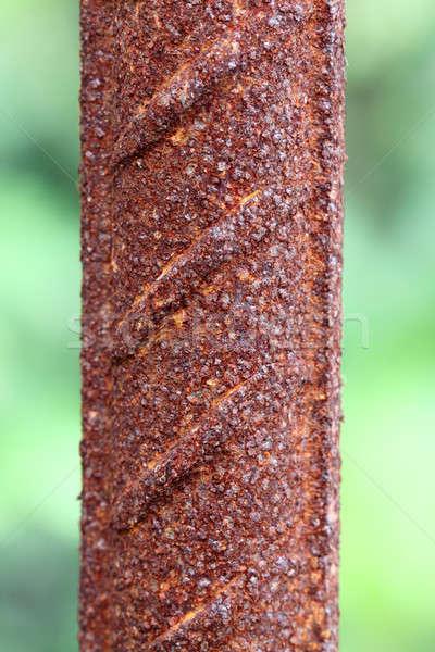 Rusty hierro barra edad aire libre Foto stock © bdspn