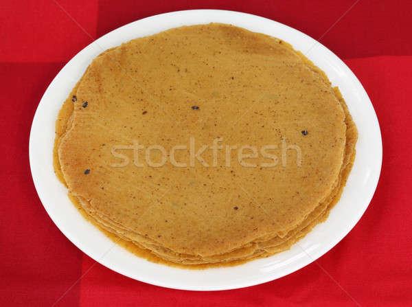 Pão trigo farinha subcontinente indiano comida Foto stock © bdspn