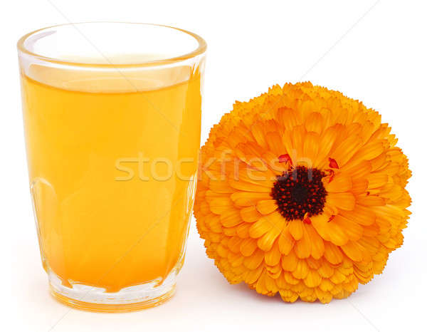 Herbal calendula flower with extract in a glass Stock photo © bdspn