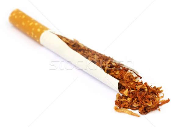 Stock photo: Tobacco and cigarette