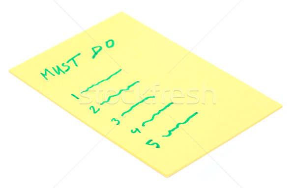 Must Do list Stock photo © bdspn