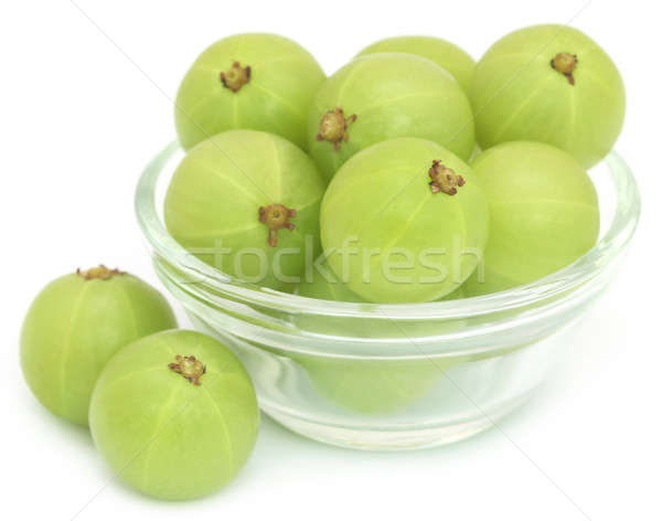Foto stock: Frutas · vidro · tigela · branco · comida · fruto