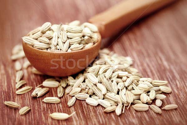 Funcho sementes branco cozinhar indiano Foto stock © bdspn