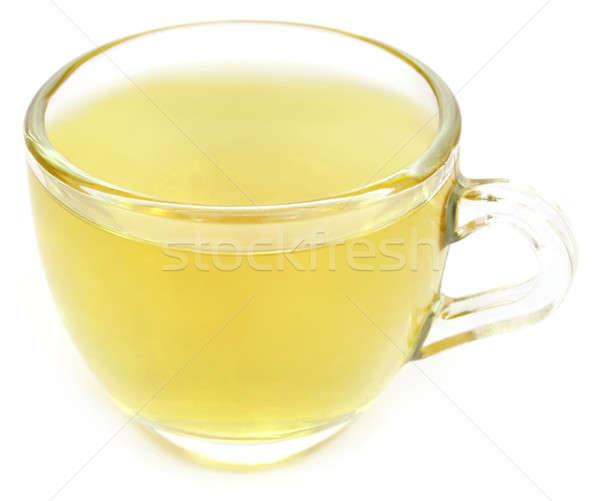 Bitkisel çaylar fincan beyaz sağlık arka plan çay Stok fotoğraf © bdspn
