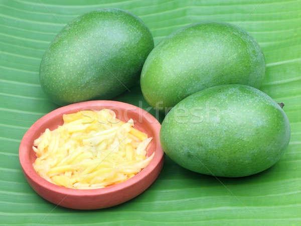 Zielone mango żywności owoców tle jedzenie Zdjęcia stock © bdspn