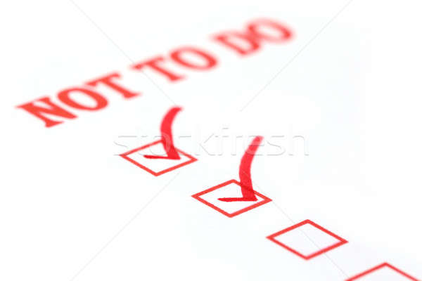 Not to Do Check List Stock photo © bdspn