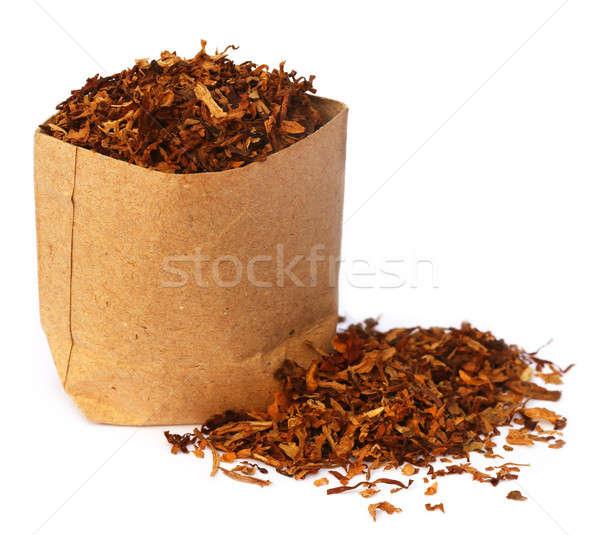 Kurutulmuş tütün kahverengi tıbbi dinlenmek stüdyo Stok fotoğraf © bdspn
