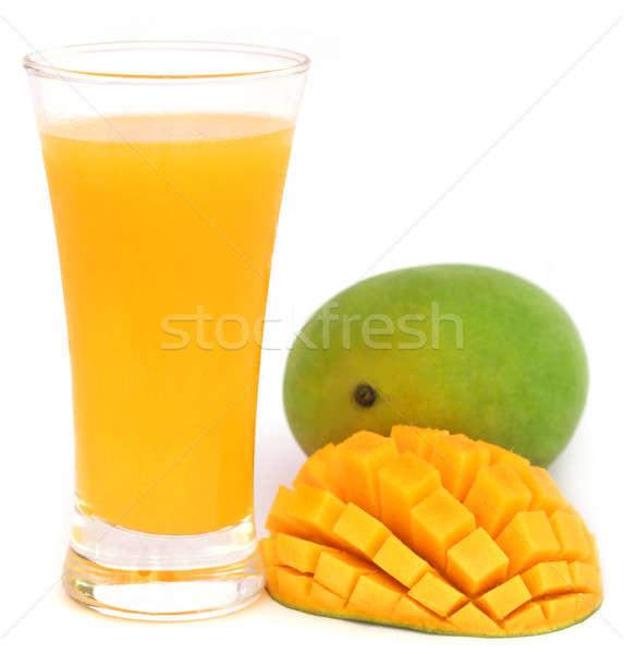 マンゴー ジュース 果物 白 オレンジ ドリンク ストックフォト © bdspn