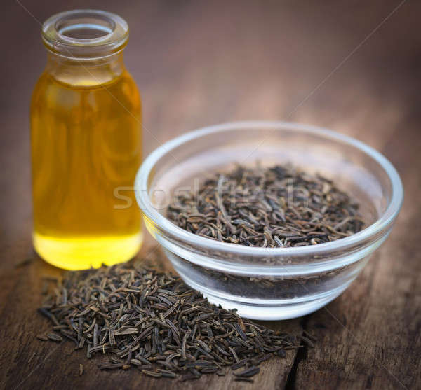 Stock photo: Caraway seeds with essential oil