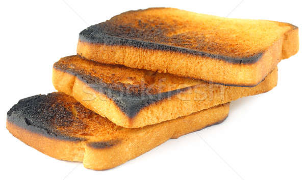 Torrado pão branco comida preto cor Foto stock © bdspn