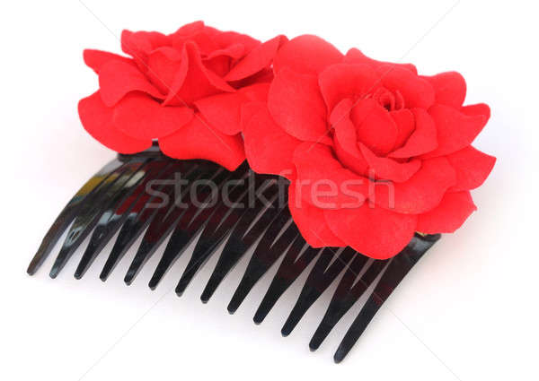 Hairclip with red flower Stock photo © bdspn
