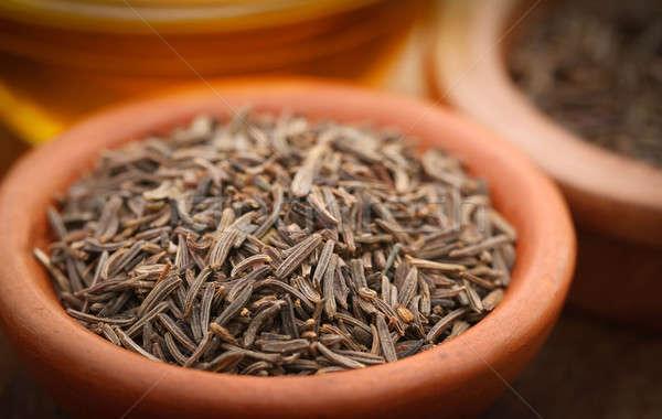 Karwij zaden ander specerijen natuurlijke niemand Stockfoto © bdspn