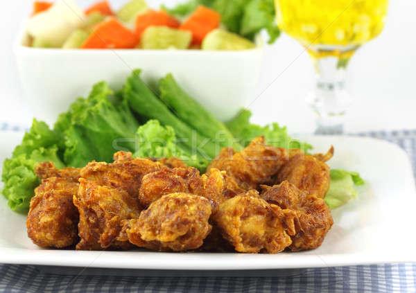 Mushroom snacks with salad items Stock photo © bdspn