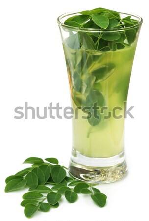 Ayurvedic Juice made from moringa leaves Stock photo © bdspn