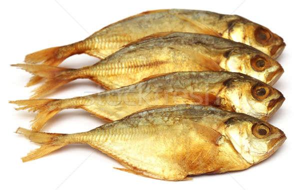 Dry scaled sardine fish Stock photo © bdspn