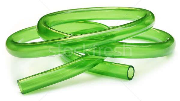 Verde tubulação isolado branco limpar ferramenta Foto stock © bdspn