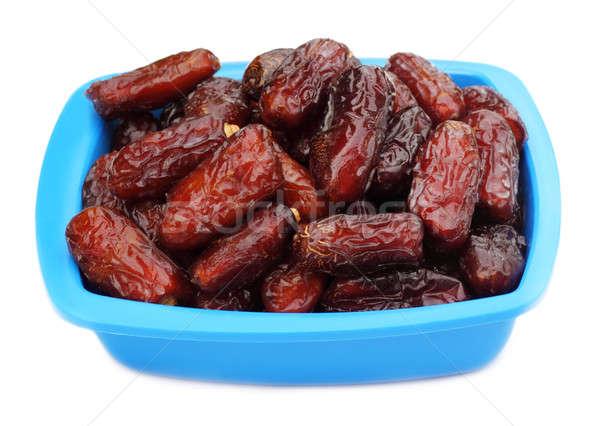 świeże arabski daty niebieski puchar biały Zdjęcia stock © bdspn