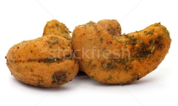 辛い カシュー ナッツ 白 食品 自然 ストックフォト © bdspn
