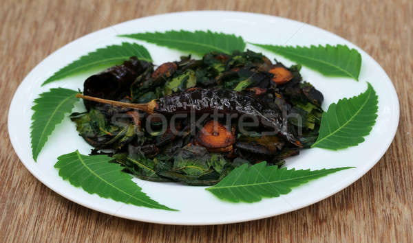 Fried neem leaves Stock photo © bdspn