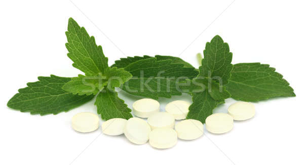 Stevia with tablets Stock photo © bdspn