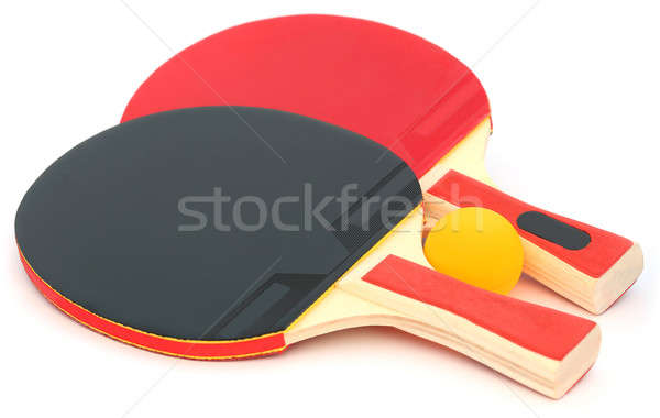 Table tennis bat and ball Stock photo © bdspn