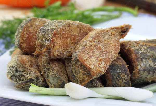 Zachowane ryb warzyw obiedzie asia Zdjęcia stock © bdspn