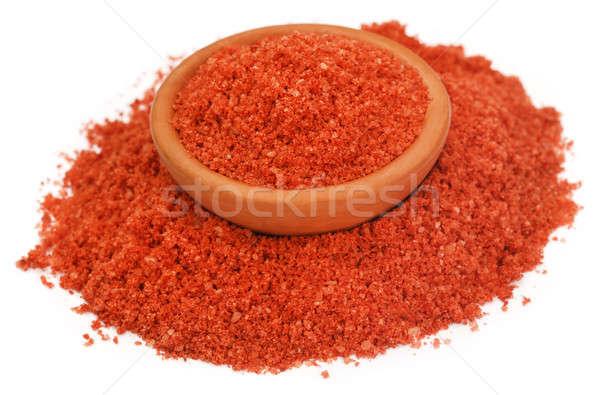 Műtrágya tál étel narancs zöld piros Stock fotó © bdspn