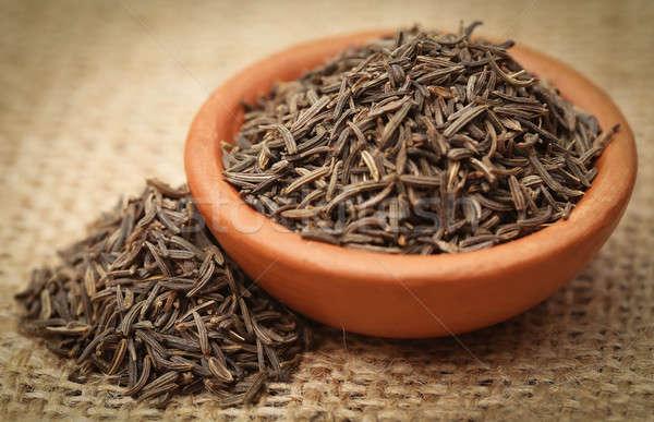 Kimyon tohumları çanak çanak çömlek doğal Stok fotoğraf © bdspn
