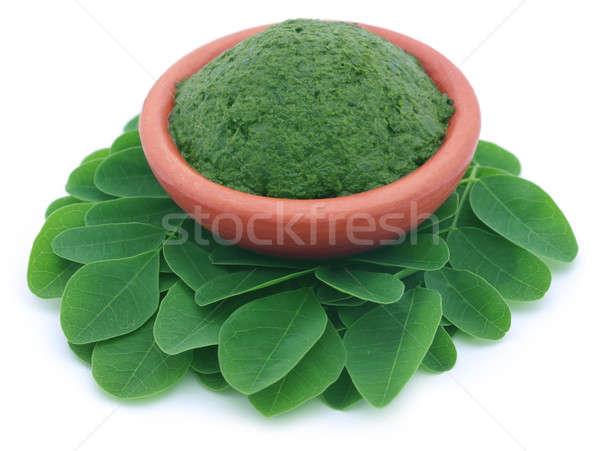 Comestível folhas cerâmica natureza verde vegetal Foto stock © bdspn