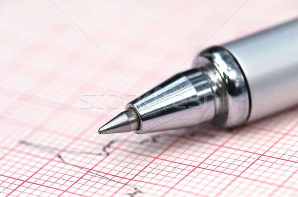 Electrocardiograph with pen Stock photo © bdspn