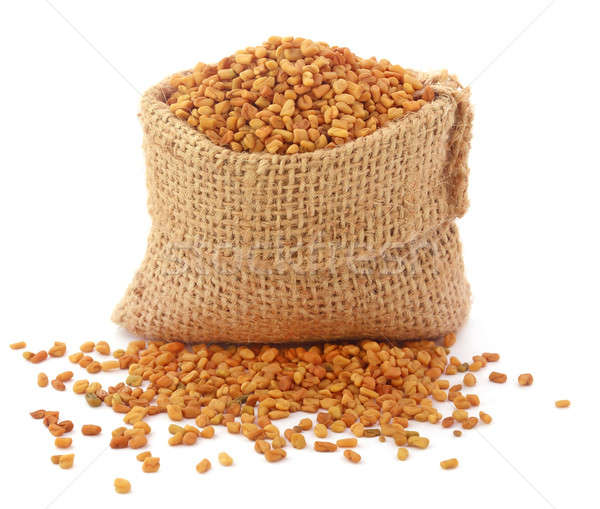 Fenugreek seeds in sack Stock photo © bdspn
