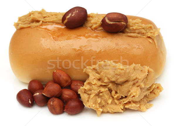Peanut butter with bun Stock photo © bdspn