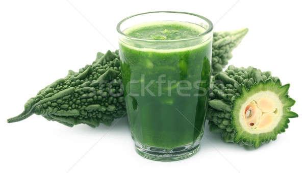 Meyve suyu yeşil cam beyaz sebze Stok fotoğraf © bdspn