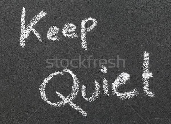 静か 書かれた 白 チョーク 教室 ストックフォト © bdspn